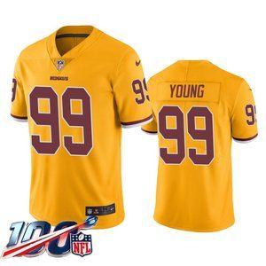 Washington Redskins Chase Young Gold Jersey